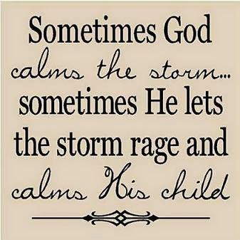 God calms the child